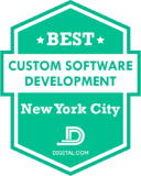 Bitbean Named Best Custom Software Developer New York City by Digital.com