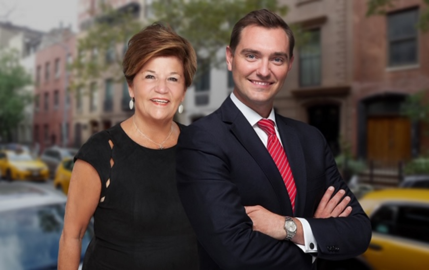Christopher Halstead and Sharon Fahy of Brown Harris Stevens