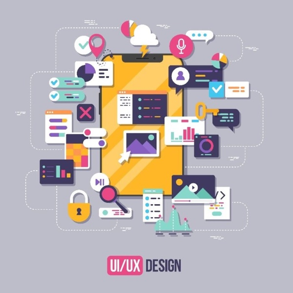UX design features for a mobile app