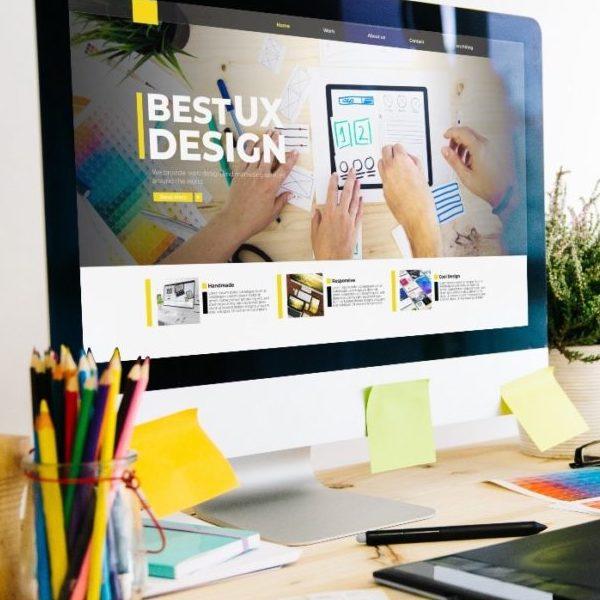 graphic design studio showing website for best UX design